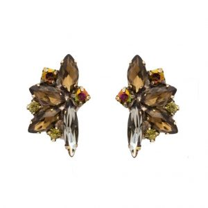 1-Drop-Green-Tapestry-Collection-Clip-On-Earring-By-Sorrelli-Brown-Crystals-361859745180
