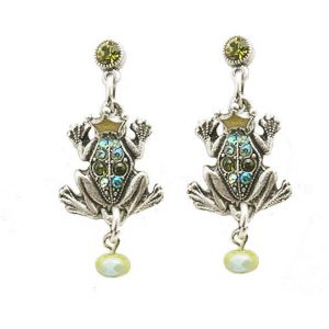 15-H-Prince-Frog-Earrings-by-Mary-DeMarco-La-Contessa-Made-in-USA-Crystals-362105364060