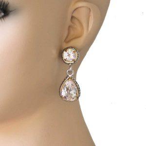 2-Long-Teardrop-Clear-Cubic-Zirconia-Earrings-Post-Style-Pierced-Ears-172355050100