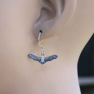 Bat-Earrings-By-Joseph-Brinton-Hypoallergenic-Sterling-Wires-Made-in-USA-361287342260