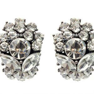 Deco-Style-Clip-On-Earrings-Clear-Crystals-Pageant-Bridal-Drag-Queen-172642259390