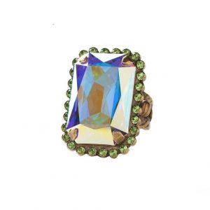Spring-Rain-Collection-Aurora-Borealis-Green-Crystals-Bold-Ring-By-Sorrelli-361483942220