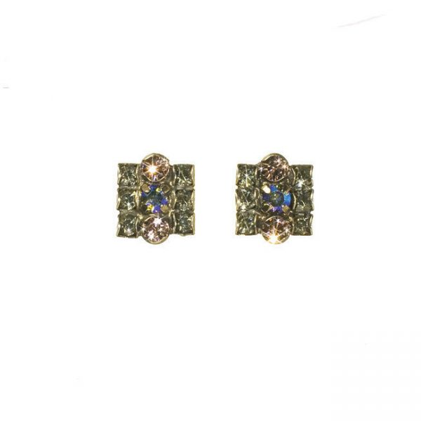 """0.5"""" Drop Rhapsody Collection, Lavender, Iridescent Crystal Earrings By Sorrelli"""