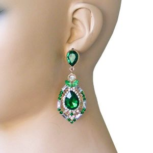 275-Long-Filigree-Earrings-Emerald-Green-RhinestonesPageant-Lightweight-172561849791