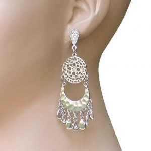 3-Long-Classic-Chandelier-Earrings-By-Ali-Jules-Silver-Tone-Rhinestone-172695158241