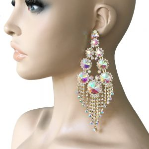 575-Long-Statement-Earrings-AB-CrystalsDrag-Queen-Bridal-Showgirl-Pageant-362030003261