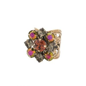 Green-Tapestry-Collection-Cocktail-Ring-By-Sorrelli-Brown-Cluster-Crystals-361853497591