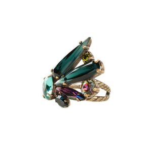 Super-Multi-Collection-Green-Vitrail-Crystal-Ring-By-Sorrellil-Bridal-361995357941