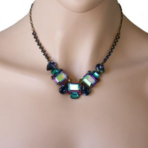 Super-Multi-Collection-Iridescent-Vitrail-Crystals-Necklace-By-Sorrellil-Bridal-361683508061