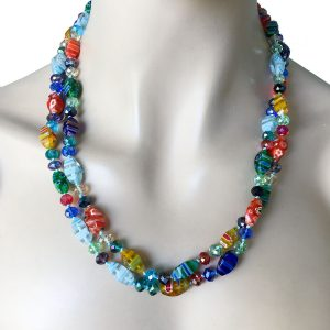 Venetian-Style-Millefiori-Glass-Necklace-by-Sweet-RomanceMade-in-USA-172736606321