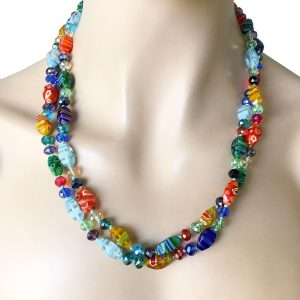 Venetian-Style-Millefiori-Glass-Necklace-by-Sweet-RomanceMade-in-USA-362106153921