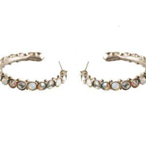 White-Bridal-Huggie-Earrings-By-Sorrelli-W-Opal-Aurora-Borealis-Crystals-172341232731