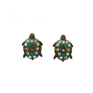 075-H-Green-Crystals-Turtle-Earrings-by-Mary-DeMarco-La-Contessa-Made-in-USA-172797950202