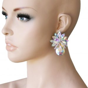2-Drop-AB-Acrylic-Rhinestones-Clip-On-earrings-PageantDrag-QueenBridal-172680614322