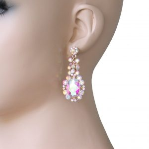 2-Long-Vintage-Inspired-Aurora-Borealis-Rhinestone-Earrings-PageantBridal-172350273222