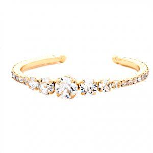 Clear-Crystals-Classy-Cuff-Bracelet-By-Sorrelli-Bright-Gold-Tone-Bridal-172815737502