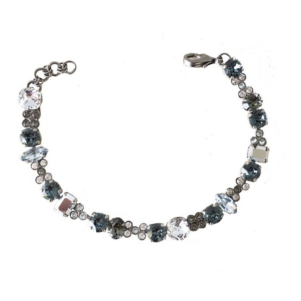 "Crystal Rock Collection 3/8"" Width Shades of Blue Bracelet By Sorrelli, Bridal"