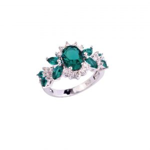 Lab-Created-Green-Topaz-Engagement-Ring-Stamped-925-Sterling-Silver-Sizes-78-172871339662