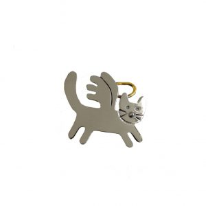 Nickel-Silver-Alloy-Angel-Cat-Pin-By-Anne-Jane-Made-in-Mexico-Signed-361430498482