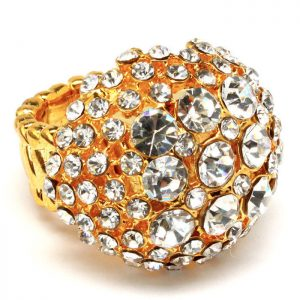 Round-Half-Ball-Stretch-Golden-Ring-Clear-Crystal-Sizes-7-9-Drag-Queen-Pageant-361558015462