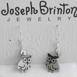 Small-Owls-Earrings-By-Joseph-Brinton-Hypoallergenic-Sterling-Wires-Made-in-USA-361996320412