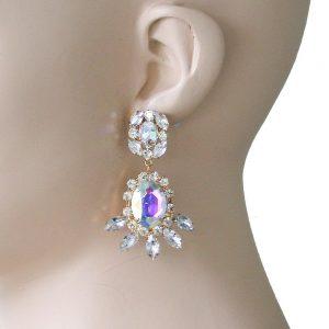 2-Long-Classy-EarringsDesigner-Inspired-Aurora-Borealis-Crystal-Lucite-362071444973