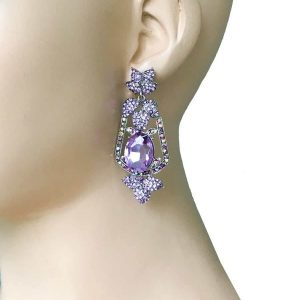 25-Long-Lavender-Rhinestones-Evening-Earrings-Pageant-Drag-Queen-Bridal-172564697843
