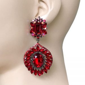 3-Long-Red-Rhinestones-Turkish-Inspired-Earrings-Drag-Queen-Pageant-172729761113
