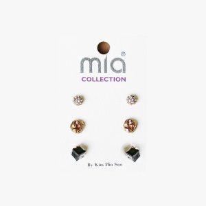 3-Pairs-Stud-Earrings-Vey-Small-Simulated-Hematite-Crystals-RhinestonesGoth-361590384293