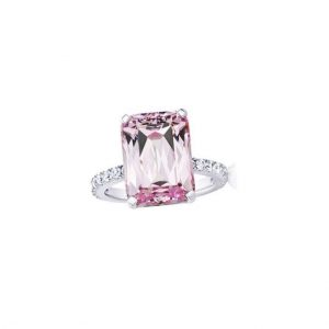 Simulated-Kunzite-Solitaire-Cubic-Zircon-CZ-Silver-Plated-Rings-Size-6-7-362069834463