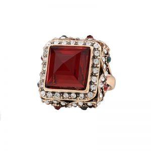 Turkish-Designer-Look-Dark-Red-Statement-Ring-Acrylic-Rhinestones-Size-7-9-362035965443