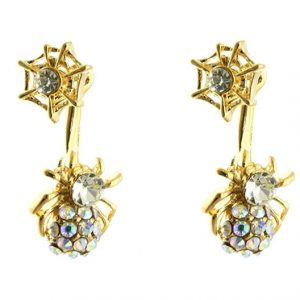 1-Drop-Clear-Aurora-Borealis-Rhinestones-2-In-One-Spider-Post-Earrings-361284248584