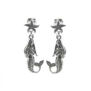 15-Drop-Silver-Tone-Mermaid-Clip-On-Earrings-Lead-Nickel-Safe-Lightweight-172127083944