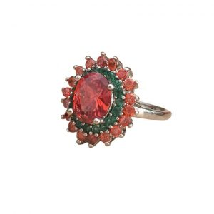 236-CT-Lab-Created-Orange-Sapphire-Green-CZ-925-Sterling-Silver-Ring-Size-7-172739611264