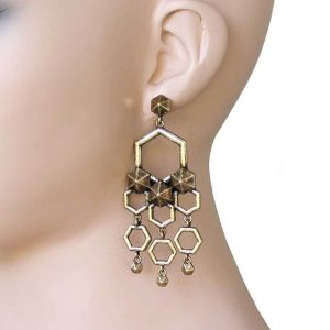 3-Long-Antique-Gold-Tone-Chandelier-Earrings-Hip-Hop-Urban-Casual-Style-172459126514