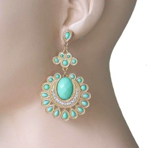 3-Long-Chandelier-Bohemian-Earrings-Mint-Green-Acrylic-Beads-CrystalsPageant-172784433714
