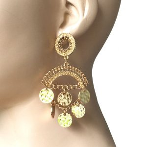 325-Long-Classic-BOHO-Gipsy-Coins-Earrings-Belly-Dance-Style-361969680974