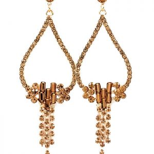 325-Long-Teardrop-With-Fringe-Light-Brown-Crystals-Post-earrings-Pageant-172138490004