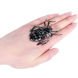 Giant-Black-Widow-Spider-Rhinestones-Statement-Stretch-Ring-Drag-Queen-Pageant-172422722304