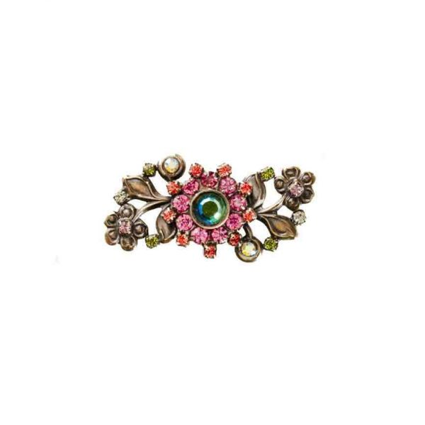 Juicy Fruit Collection Shades of Pink & Green Crystals Lapel Pin By Sorrelli