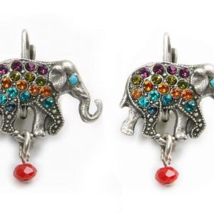 15-H-Multicolor-Elephant-Earrings-by-Mary-DeMarco-La-Contessa-Made-in-USA-361911971645