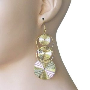 35-Long-Bright-Gold-Tone-Statement-Earrings-Hip-HopUrban-Casual-Lightweight-361881070075