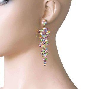 375-Long-Pastel-Multicolor-Rhinestones-Earrings-Pageant-Drag-Queen-Bridal-361744856745