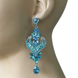 4-Long-Pool-Blue-Crystal-Gunmetal-Earrings-PageantDrag-QueenBridal-172682567195