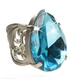 Emerald-Coast-Collection-Large-Blue-Teardrop-Adjustable-Ring-By-Sorrelli-172389148695