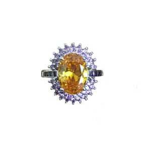 Lab-Created-Citrine-Amethyst-Rhodium-Plated-Halo-Engagement-Ring-Size-6-7-361971496475