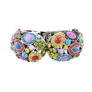 Multicolor-Bohemian-Boho-Style-Chunky-Bracelet-With-Hinge-Trendy-Urban-361965932835