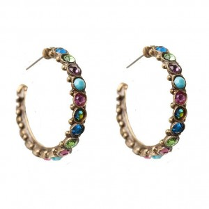 Southwest-Brights-Collection-Hoop-Earrings-By-Sorrelli-Pierced-Multicolor-361543995895