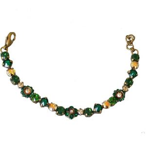 Wild-Fern-Collection-Green-Gold-Crystals-Bracelet-By-Sorrelli-Bridal-Pageant-361683244145