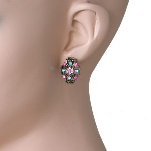 075-Drop-Small-Vintage-Inspired-Filigree-Multicolor-Rhinestones-Post-Earrings-361652080826